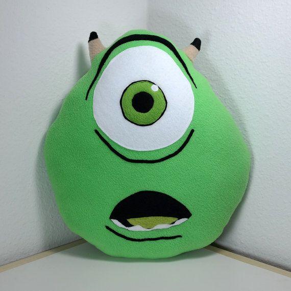 Mike Wazowski Monsters Inc. University Handmade by MiPillow