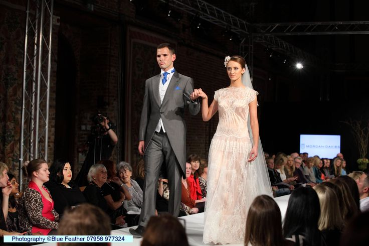 The final looks to come down the runway at the Luxury Wedding Show. A beautiful lace wedding gown by Morgan Davies and stunning suit by Waterers Tailors & Menswear.