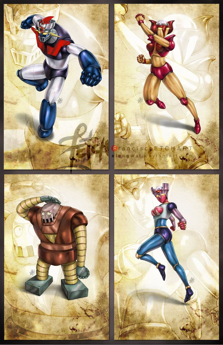 Mazinger Z_cards SERIES A by FranciscoETCHART