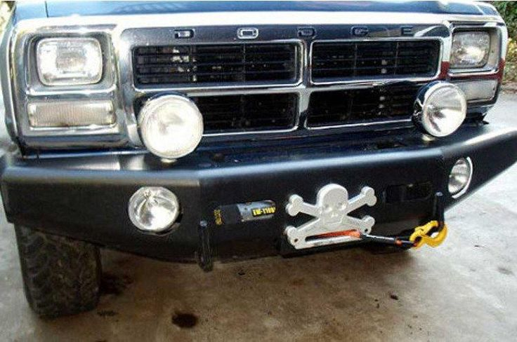 TrailReady 10100B Chevy Silverado 1500 1981-1987 Extreme Duty Front Bumper Winch Ready Base