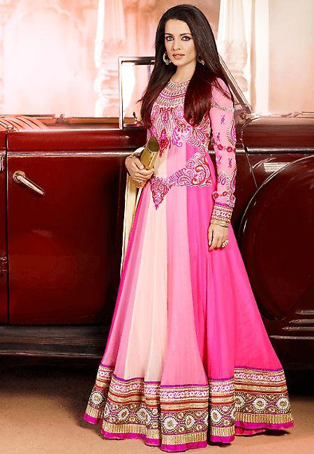 Embellished Pink Salwar Suit