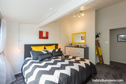Go for warmer whites. This will stop a low-light room from looking too shadowy. The bedroom in this older Lockwood has been painted in Resene Quarter Merino by owner/designer Tracy Murphy.  http://www.habitatbyresene.co.nz/5-colour-assumptions-you-can-ignore