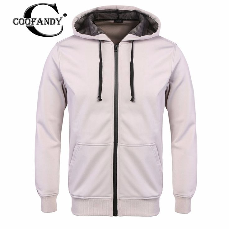COOFANDY hoodies Coat Men Fashion 2017 New Autumn Casual Hooded Jacket Long Sleeve Solid Zip-up Hoodie Sweatshirt US Size