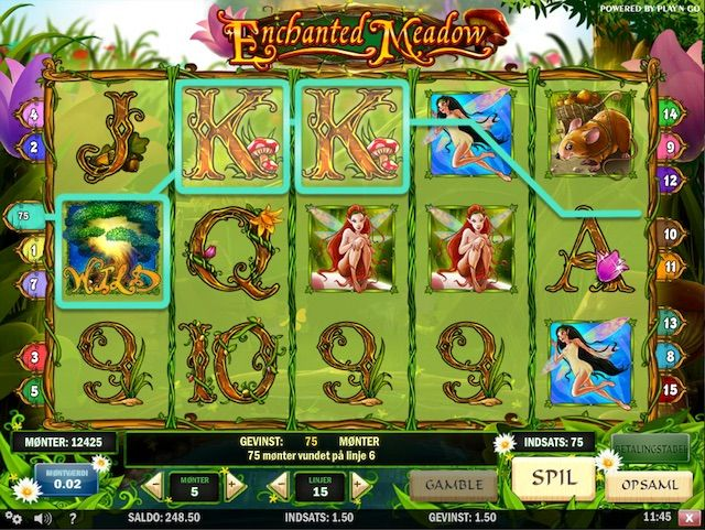 Spil Enchanted Meadow spilleautomat hos Betsafe
