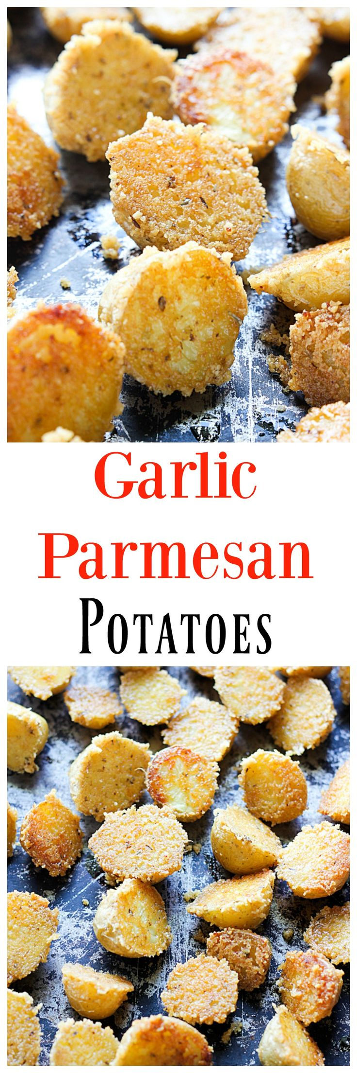 These Garlic Parmesan Potatoes are an easy and addicting side dish that your whole family will love. Who can resist baby potatoes?