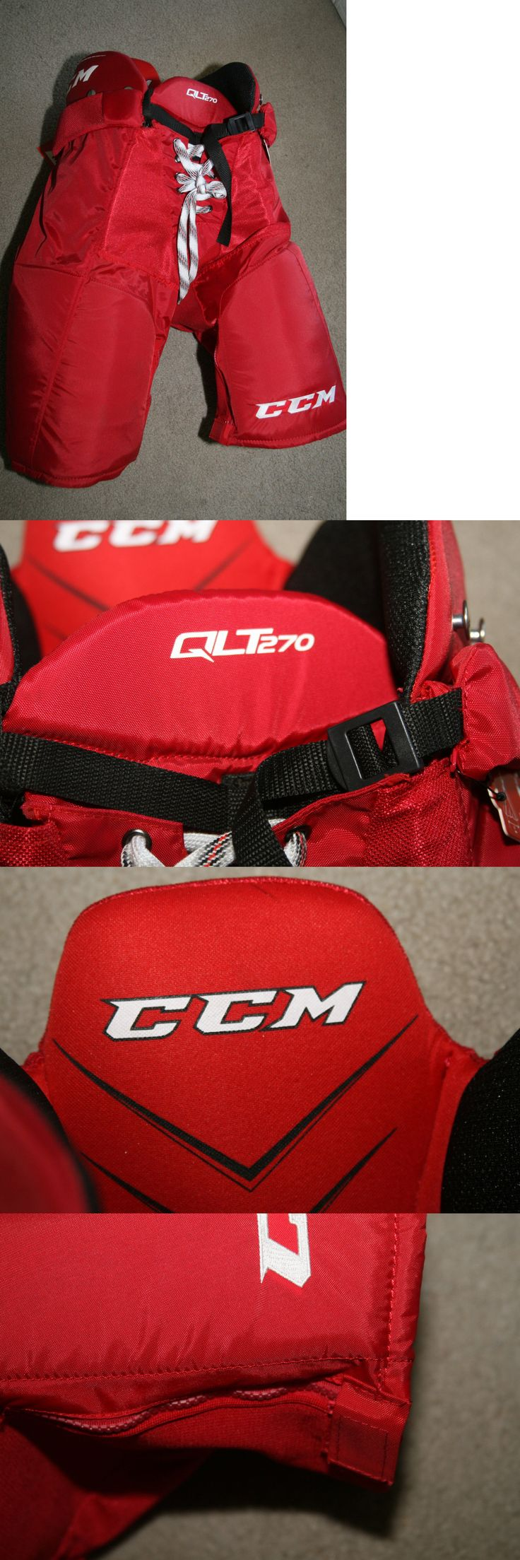 Other Hockey Clothing and Gear 165934: Ccm Quicklite 270 Red Hockey Pants - Sr Sz Medium Nwt BUY IT NOW ONLY: $51.99
