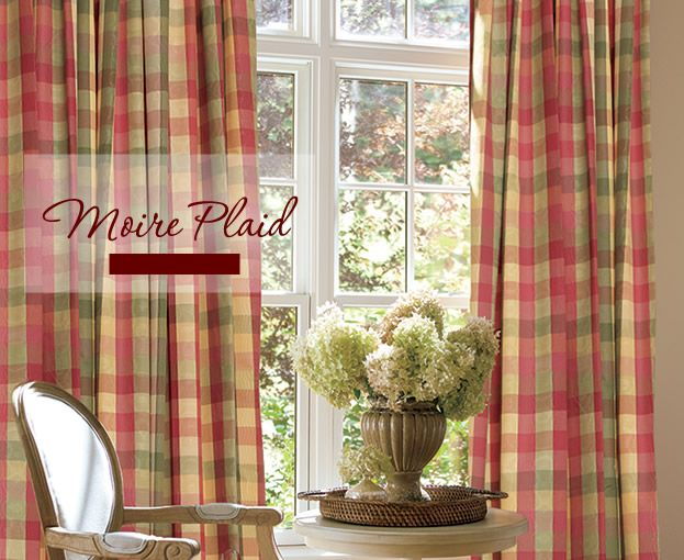 French Country Plaid Curtains Country Curtains