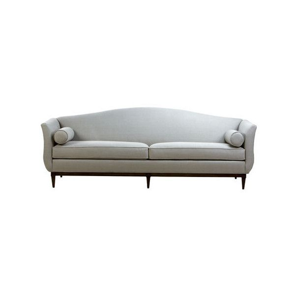Shop Sofas and Loveseats   Leather Couch   Ethan Allen ($239) ❤ liked on Polyvore featuring home, furniture, sofas, ethan allen sofas, leather couch, slip cover couches, two seater leather sofa and 2 seater leather sofa