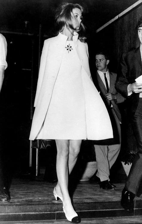 Jean Shrimpton in Melbourne, 1965.
