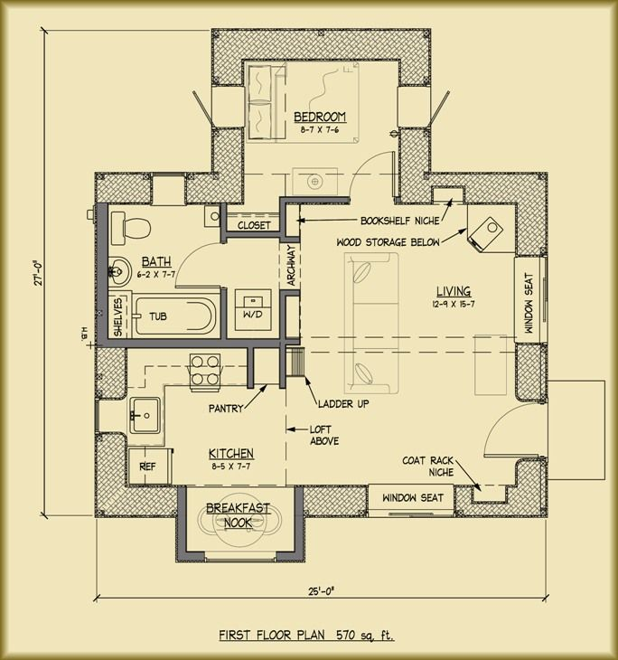 here is the floor plan for the straw bale house