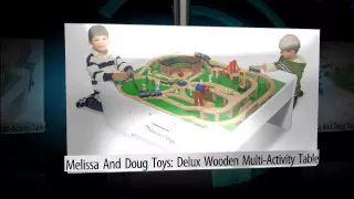 Melissa & Doug Toys: Deluxe Wooden Multi-Activity Table - YouTube