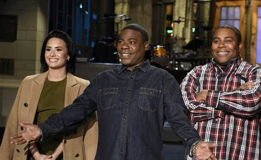 """I'm back!"" With famous friends by his side, Tracy Morgan returns to funny form as 'SNL' host http://nbcnews.to/1QGgoyg"