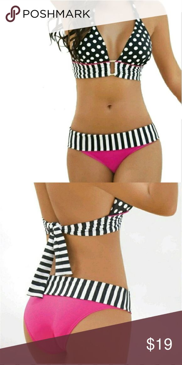 FREE BIKINI WITH PURCHASE OF 3 ITEMS Re Posh never worn pricing it low to sell faster. It's really cute the quality is like target bathing suits but it runs small. It's supposed to be a large but I would say this is for a B cup and and size small/medium bottom.  Free with the purchase of any 3 items. No trade. RE-POSH  Swim Bikinis