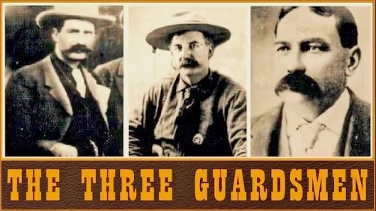 "Three men known as the Three Guardsmen roamed Indian and Oklahoma territories taming crime and corruption. Bill Tilghman, Henry Thomas, and Chris Madsen tracked down several hundred outlaws and killed several others in their combined quest for justice. ""JUSTICE TIMES THREE""  http://tomrizzo.com/justice-times-three/"