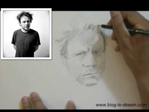 Dessiner un portrait - crayon à papier - YouTube