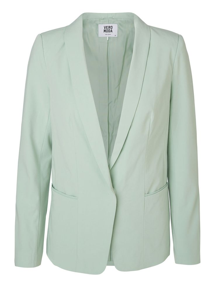 Classic blazer in a minty green pastel shade.