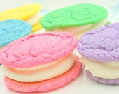 colorful food = :): Cakes Mixed, Homemade Oreo, Sugar Cookies, Bright Oreo, Sandwiches Cookies, Food Color, Whoopie Pies, Easter Cookies, Oreo Cookies