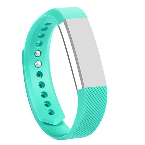 ISMILE Classic Silicone Colorful Replacement Bands with Secure Silicone Fasteners and Metal Clasps for Fitbit AltaNo tracker Replacement Bands Only *** Read more  at the image link. (Note:Amazon affiliate link)