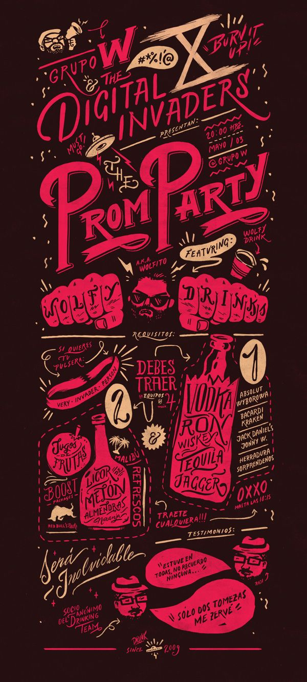 Digital Invaders Prom Party #infographics #designgraphic #typographic