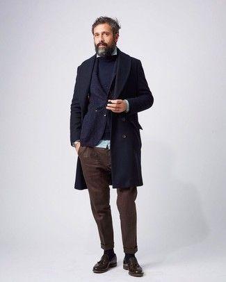 Cómo combinar un pantalón chino marrón oscuro en 2017 (173 formas) | Moda para Hombres
