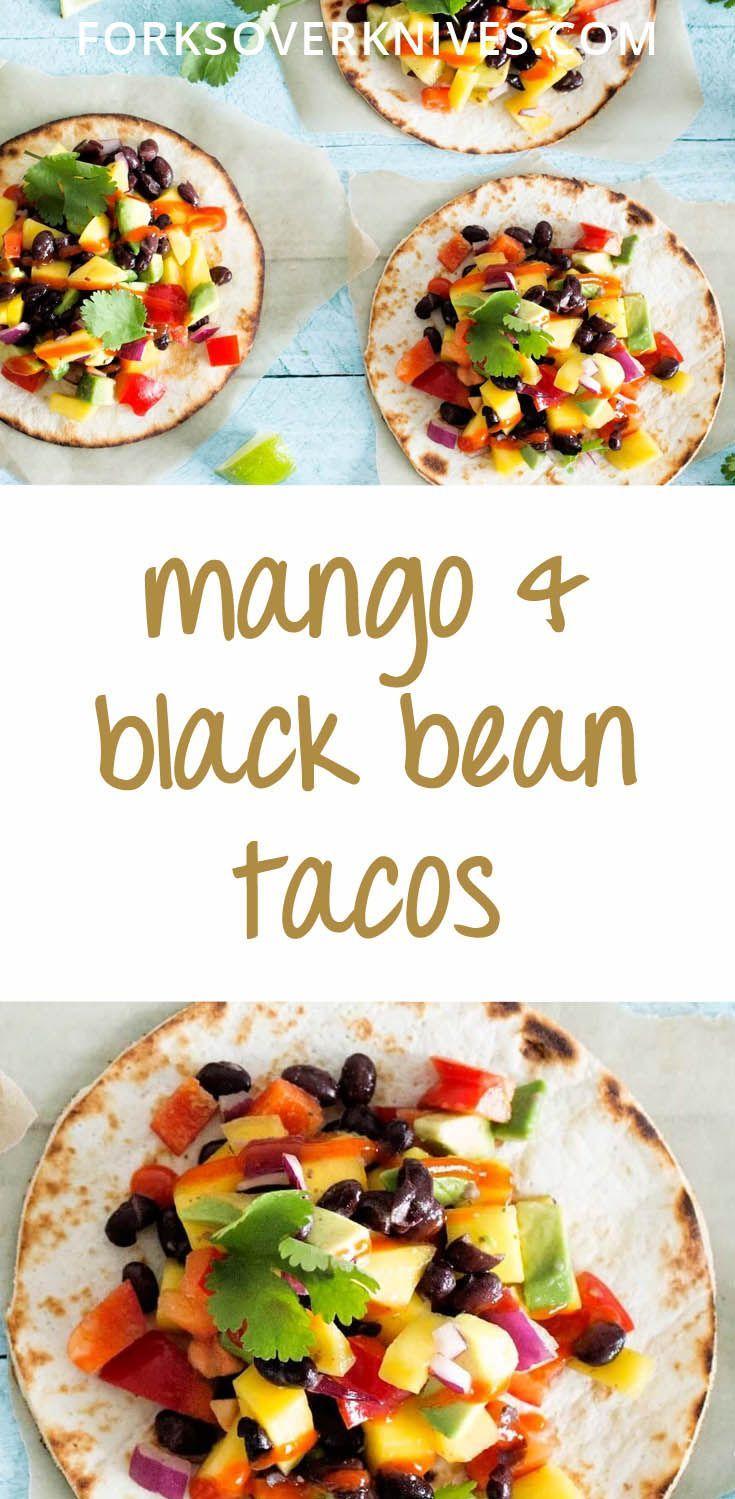 Mango and Black Bean Tacos