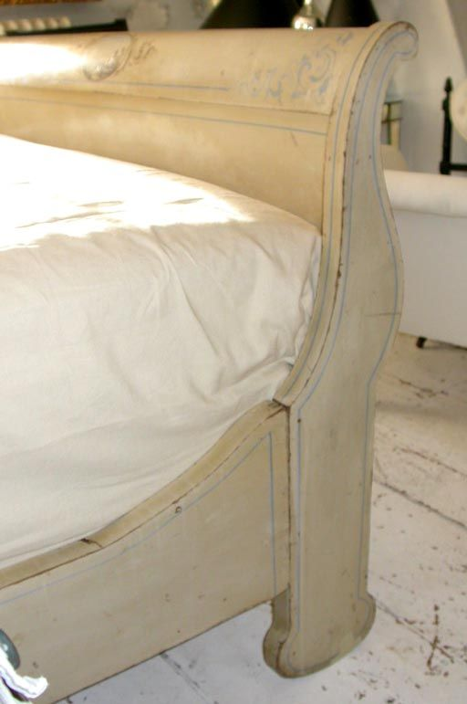 Hudson River Painted Sleigh Bed image 5