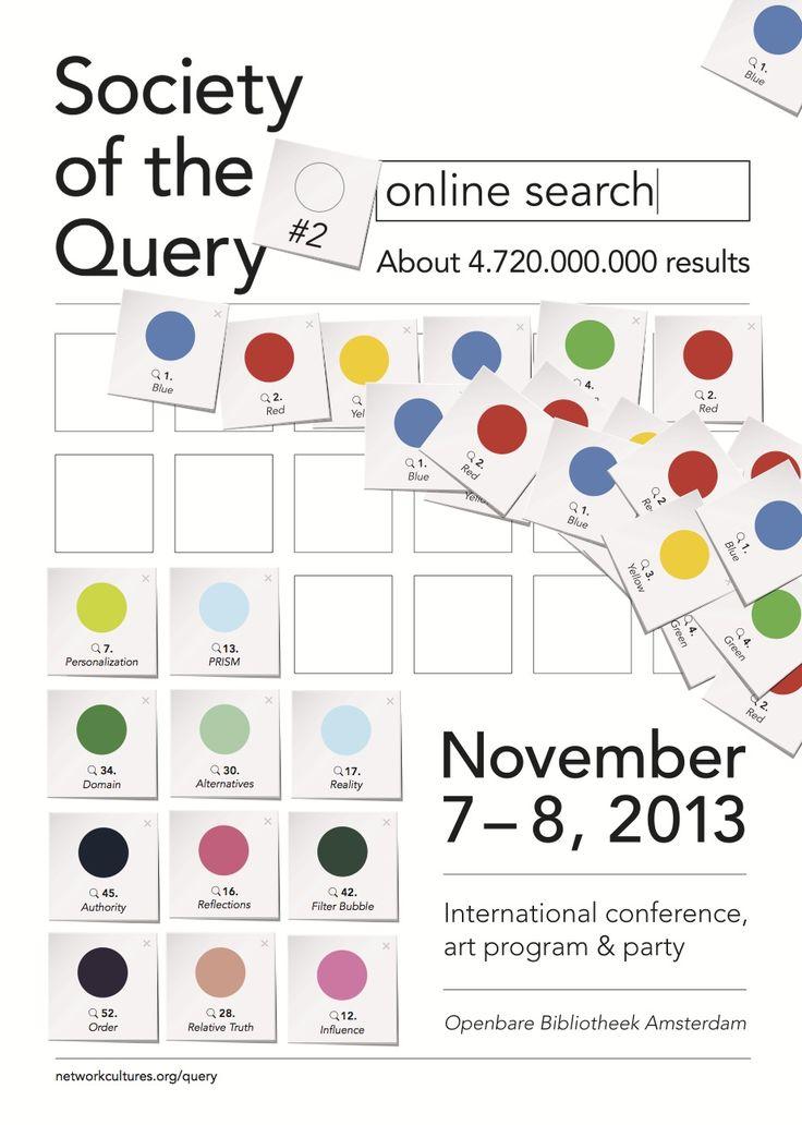 Op 7 en 8 november is er de tweede editie van het congres Society of the Query over online zoeken. Het congres vindt plaats in de hoofdvestiging van de Openbare Bibliotheek Amsterdam.