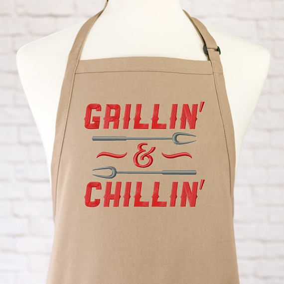 BBQ Aprons for Men Funny  BBQ Apron  Grill Accessories