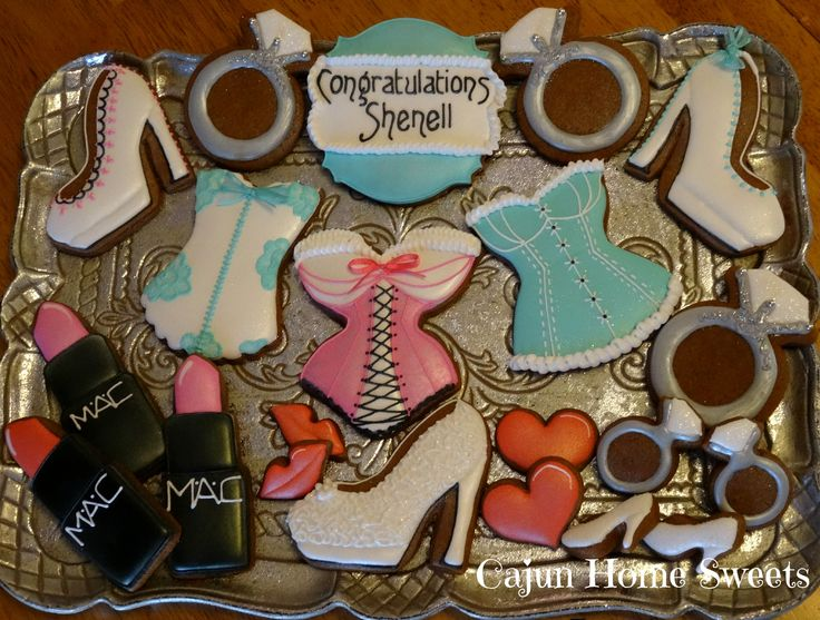 Lingerie Shower Cookies by Cajun Home Sweets