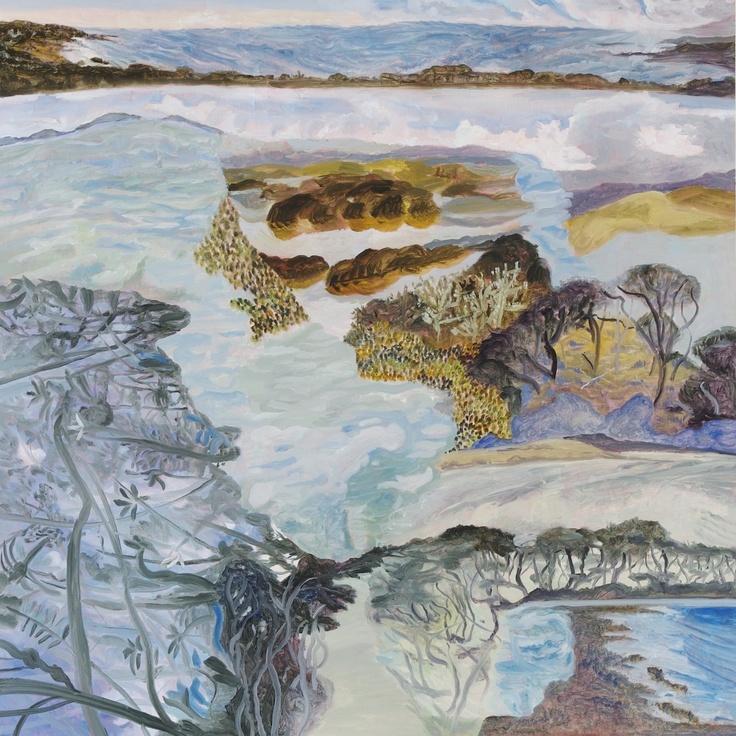 Barbara Tuck, Arai te Uru, 2013, Oil on board, 790 x 790mm