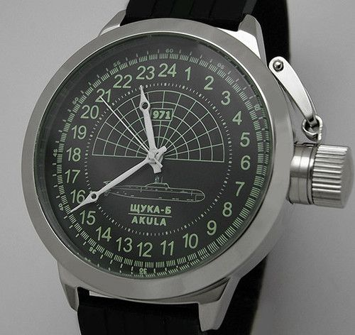 Russian 24-hour Watch Submarine AKULA 51 mm | eBay  Will someone  just give me that for Christmas? Or is it just too blasphemous to give soviet memorabilia on a capitalist holiday?
