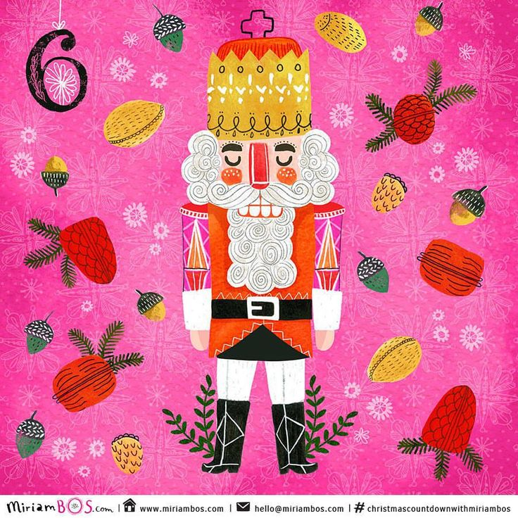 Only just in time today. Six days until Christmas in the #Christmascountdownwithmiriambos I love these wooden and colourful nutcrackers a lot, but also find them slightly creepy at the same time thanks to their teeth, haha. 🎄🎄🎄 #illustration #drawing #drawingdaily #drawingaday #drawdaily2015 #christmasillustration #christmascountdown #miriambos #illo_advent #nutcracker