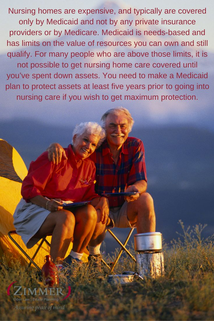 Nursing homes are expensive and typically are covered
