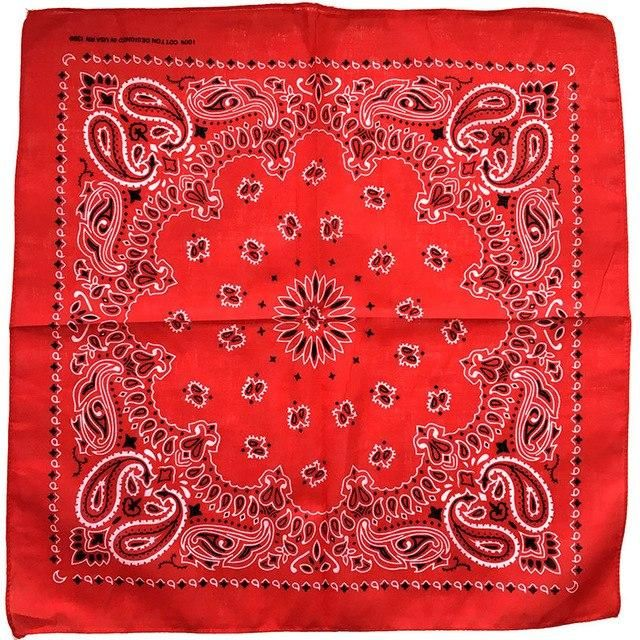 Unisex Men Or Women Print Bandana Hip Hop Square Scarf Handkerchief Headband