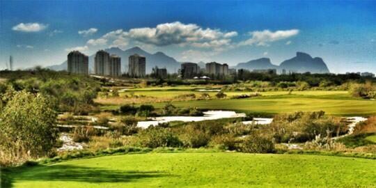 Apr 2014: Artist's impression of Rio Olympics 2016 golf course.