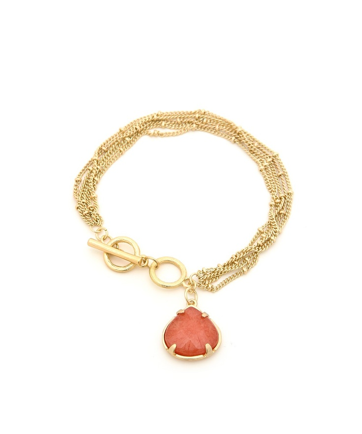 All Occasions Stone Bracelet - Coral  $8.50