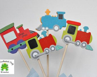 Train Birthday Party Decorations Toy By TangerinePaperShoppe