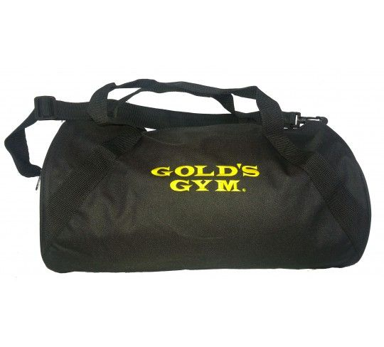 Gym Duffle Bag With The Golds Name Embroidered Across Side One Large Zippered Compartment