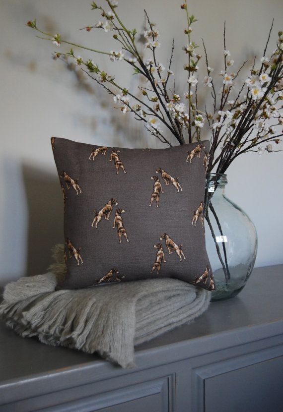 Hand Made Cushion featuring Emily Bond Jack by HillyHortonHome