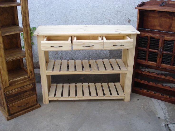 De Pino en Pinterest  Muebles de pino, Cajoneras de madera y Cajonera