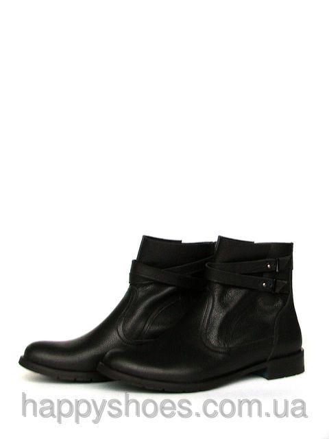 """Ботинки кожаные демисезонные """"Два разреза с ремешками"""", фото 1"""