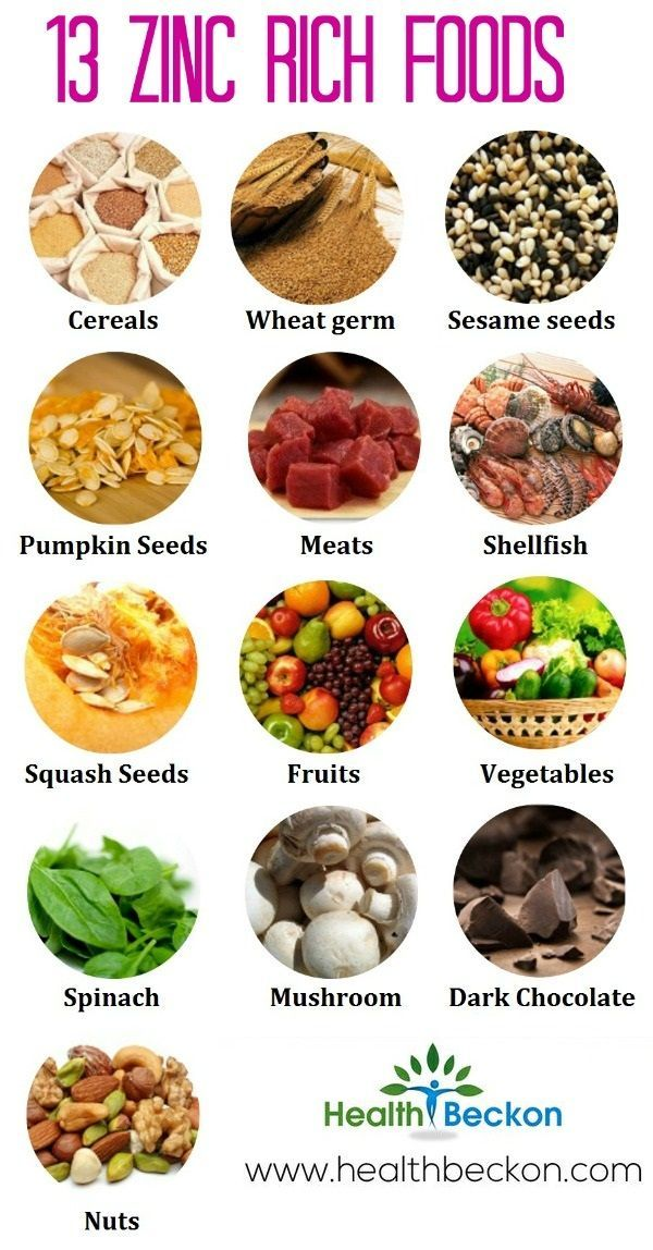 Top 13 Zinc Rich Foods You Should Include In Your Diet - great for skin, hair, acne, digestion.  #charlottepediatricclinic