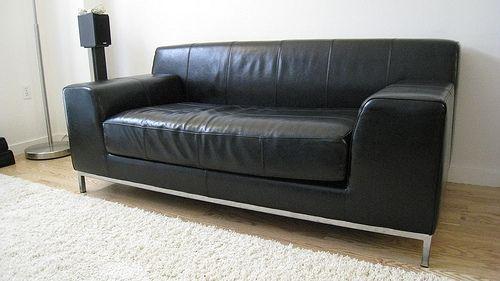 Ikea Couch Leder Kunstleder Sofa Schwarz Leder Couch Mit Innen Ikea