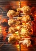 Chicken On The Grill With Flames Royalty Free Stock Photo, Pictures, Images And Stock Photography. Image 7853988.