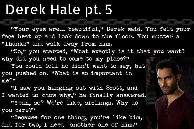Derek Hale pt  5 ///ClackerBlackMalfoy | My Imagines | Derek