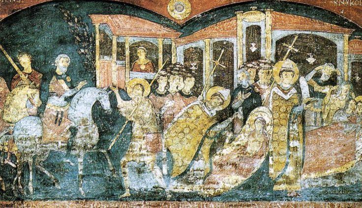 Roma, san clemente inferiore, scene della vita di sant'alessio, fine XI secolo - Arte ottoniana - Wikipedia