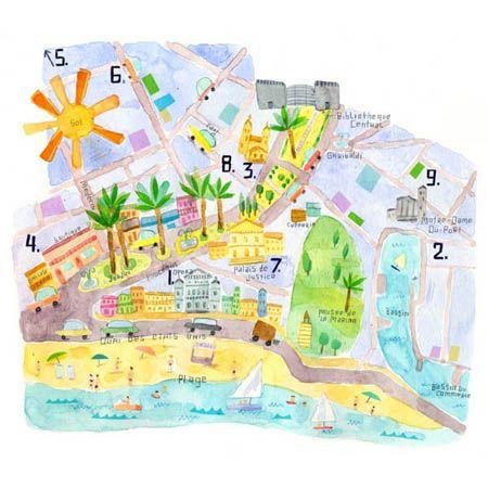 Maria Carluccio - Map of Nice