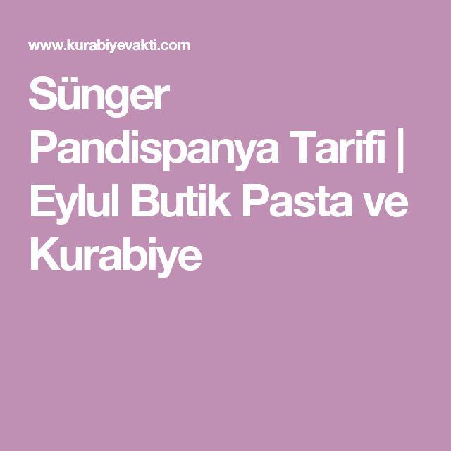 Sünger Pandispanya Tarifi | Eylul Butik Pasta ve Kurabiye