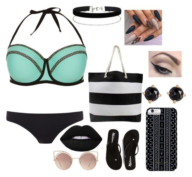 """""""day at the beach"""" by tai-baii on Polyvore featuring New Look, Paul Smith, Cobian, Savannah Hayes, MANGO, Irene Neuwirth, Lime Crime, Mehron and Miss Selfridge"""