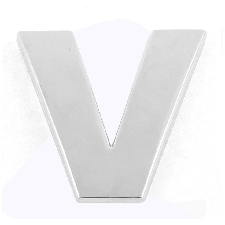 Unique Bargains Self Adhesive Stickers Car Auto 3D Emblem Badge Decal Letter Chrome (Grey) Symbol V